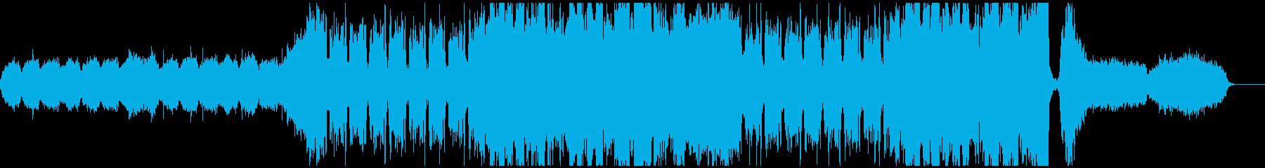 ダークファンタジーの映画音楽風オケの再生済みの波形