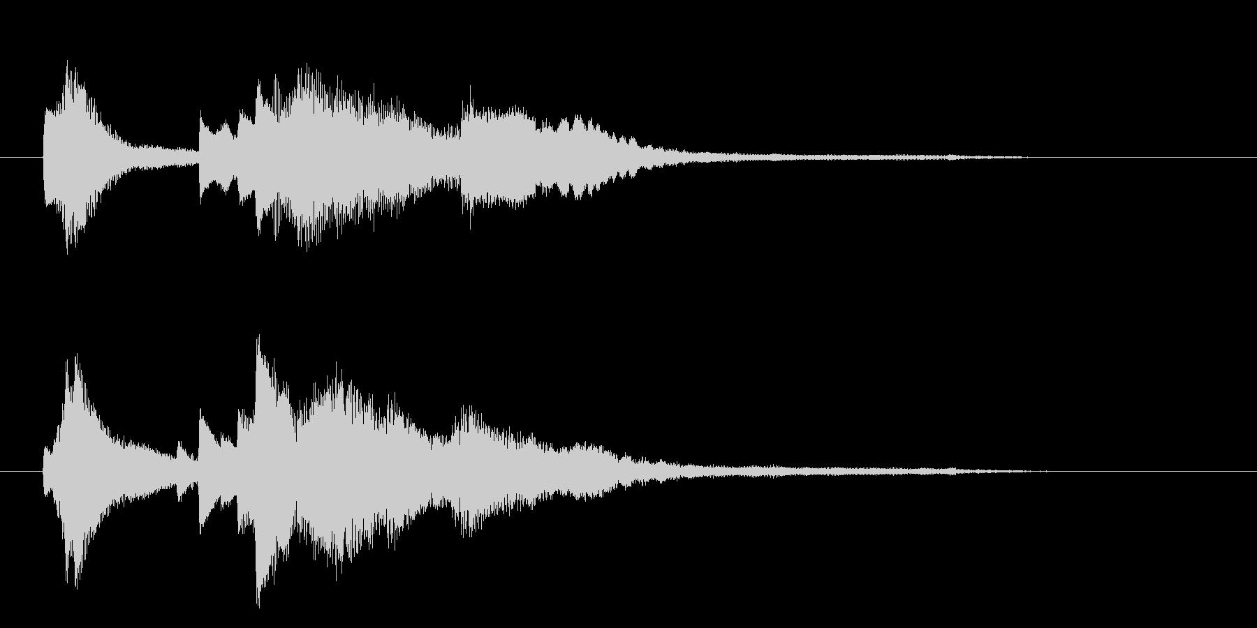 優雅なピアノ・クラシック調のサウンドロゴの未再生の波形