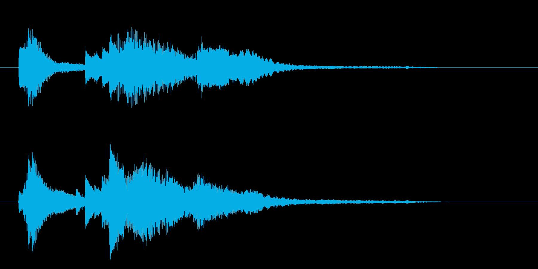 優雅なピアノ・クラシック調のサウンドロゴの再生済みの波形
