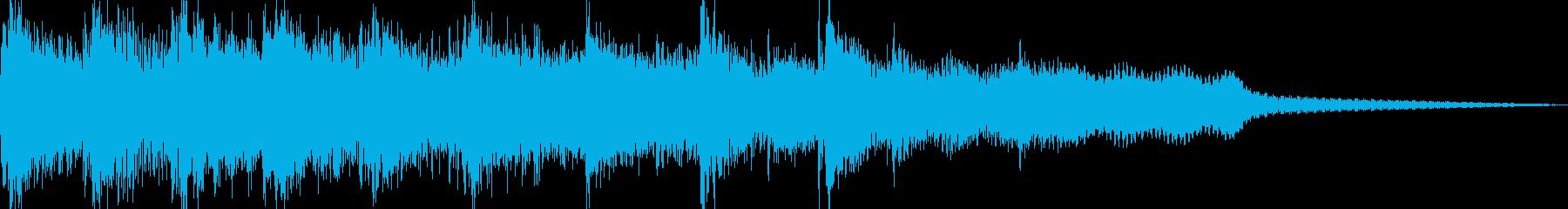 琴で伝統的な雰囲気の和風ジングルの再生済みの波形