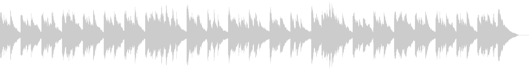 幻想的なシーンに合うピアノBGMの未再生の波形