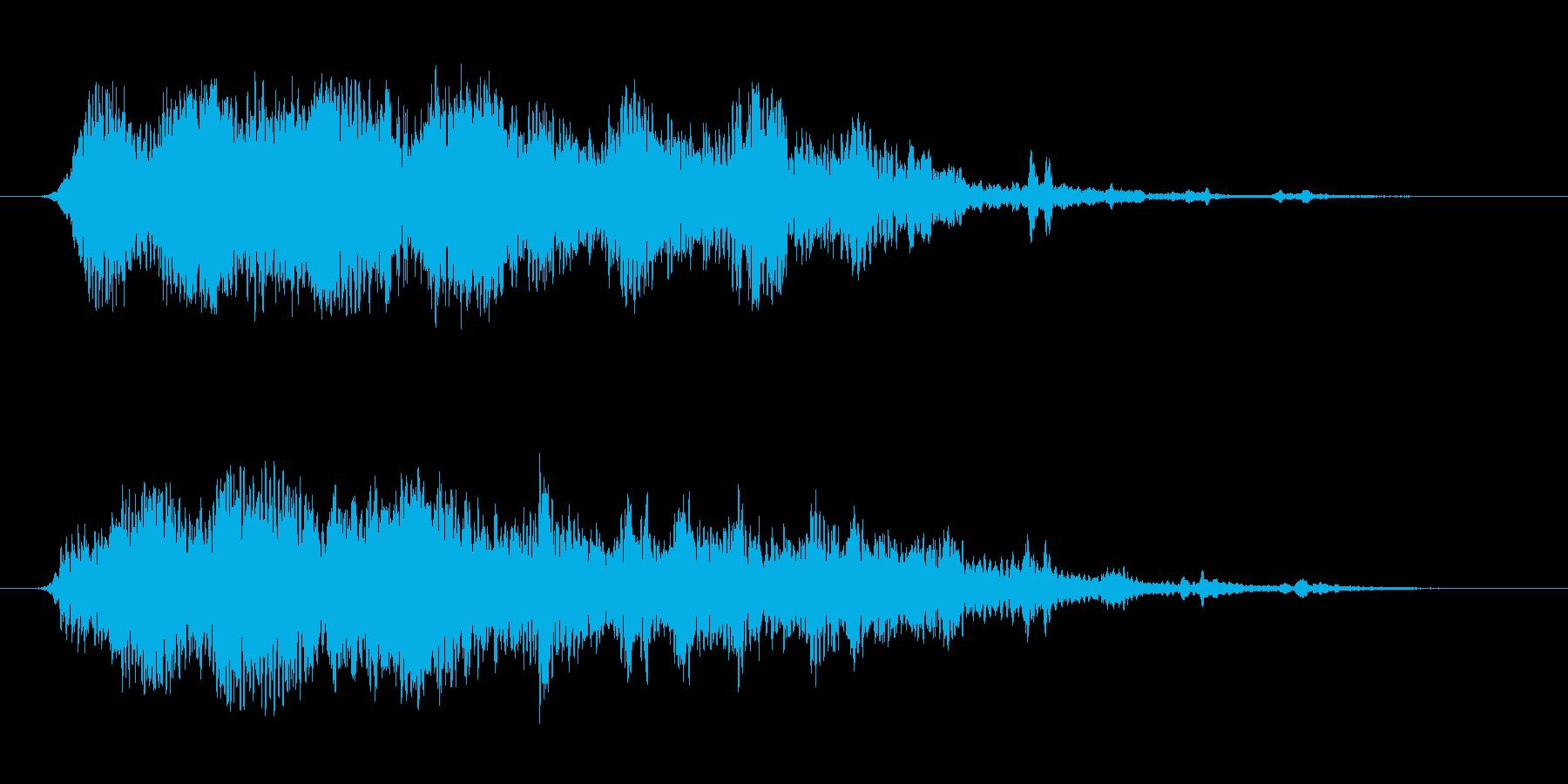 クリケットパスの再生済みの波形