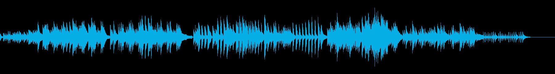 生演奏!ノスタルジックなソロピアノ曲の再生済みの波形