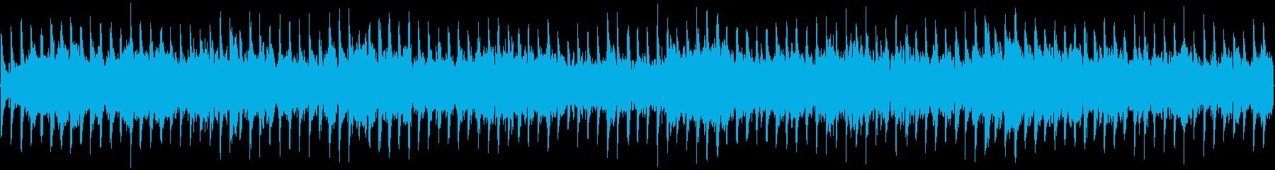 神秘的なシンセ主体ループ楽曲の再生済みの波形