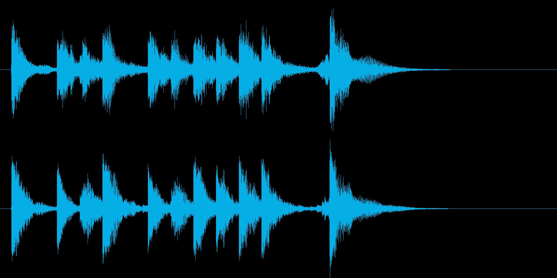 かわいらしい軽いオーケストラのロゴ♪の再生済みの波形