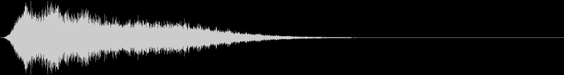 豚の鳴き声;リバーブとエコーを使用...の未再生の波形