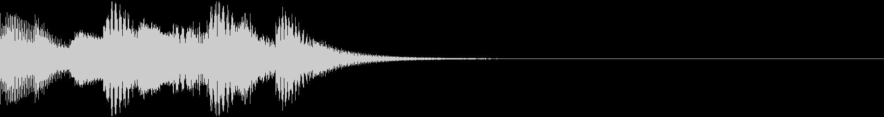 鉄琴・木琴による着信音(ループなし版)の未再生の波形