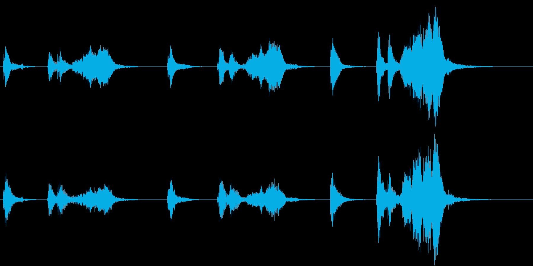 トムとジェリー風なアニメ音楽「忍び足」6の再生済みの波形