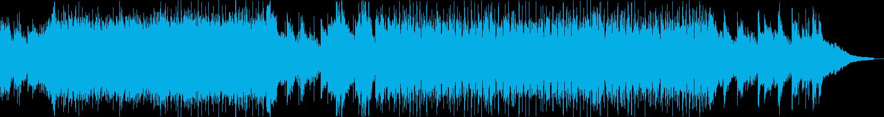 綺麗なピアノのメロの癒し系ポップテクノの再生済みの波形