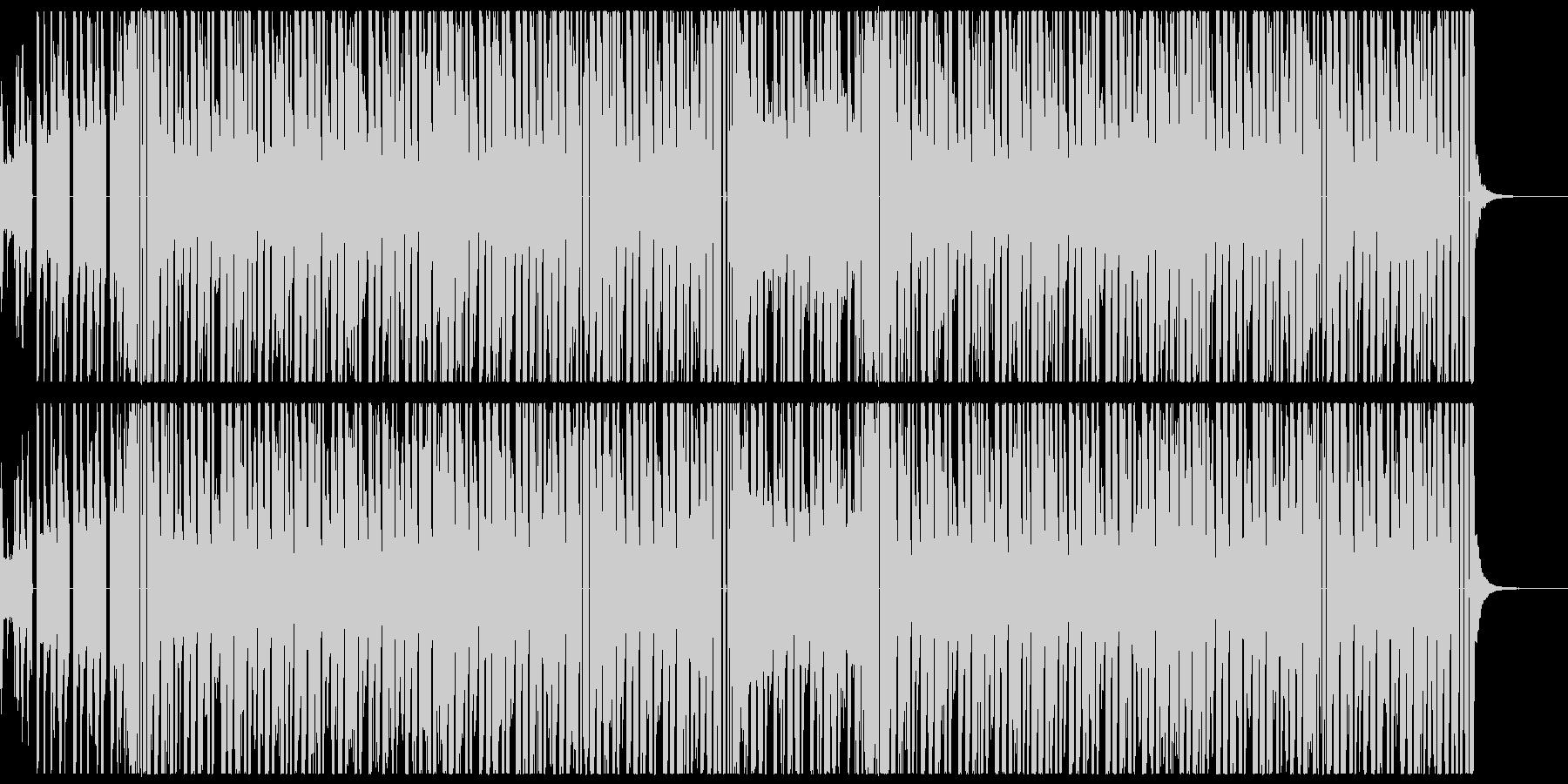 声ネタの入ったヒップホップの未再生の波形