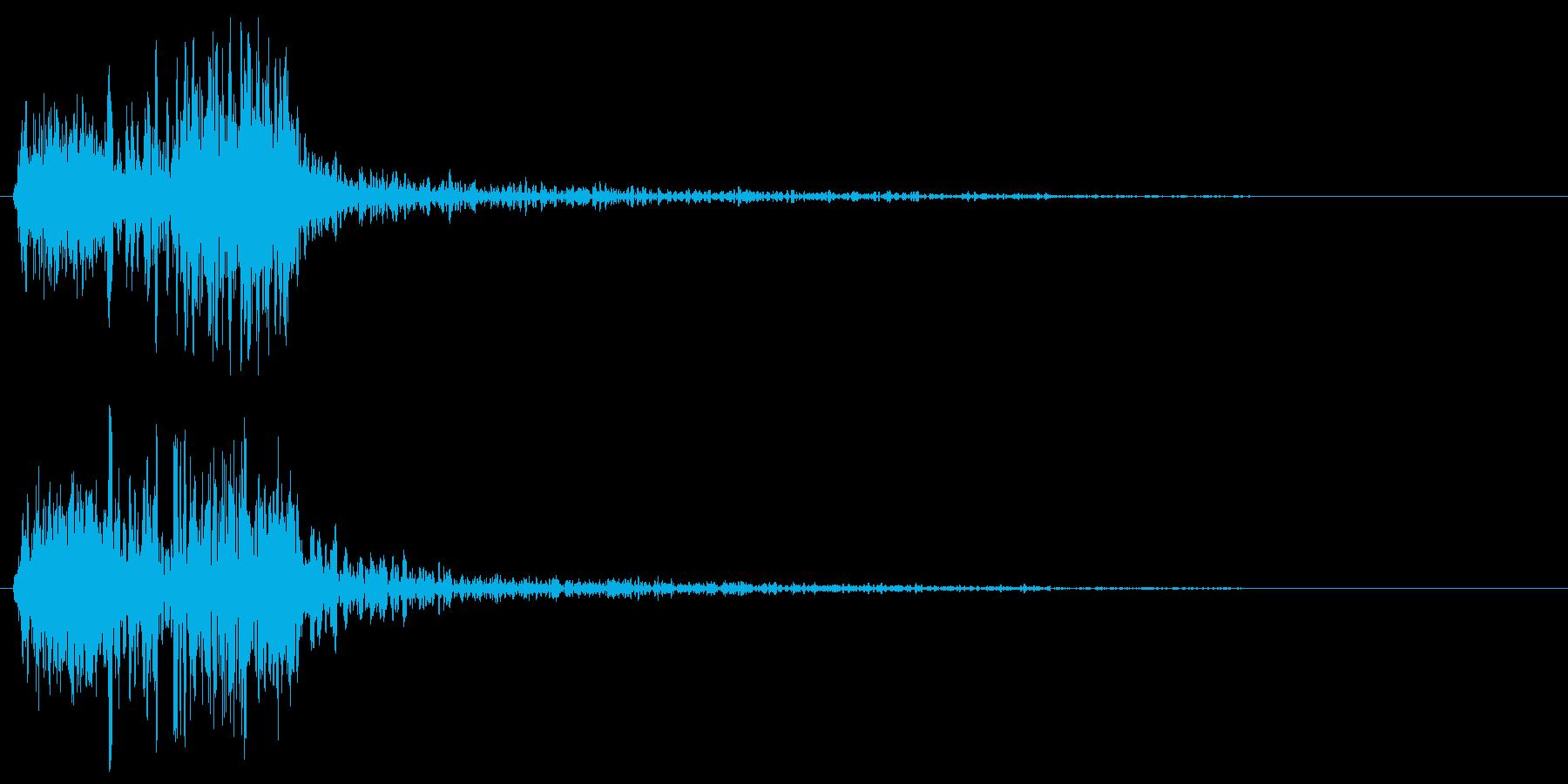 ズバッ(刀で人を切った音、時代劇)の再生済みの波形
