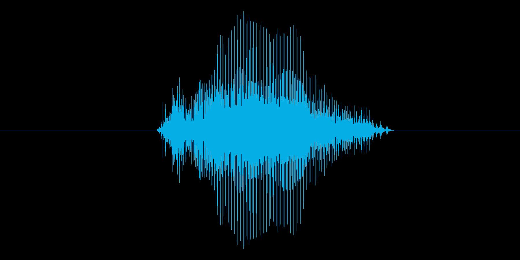 9(数字、女の子)の再生済みの波形