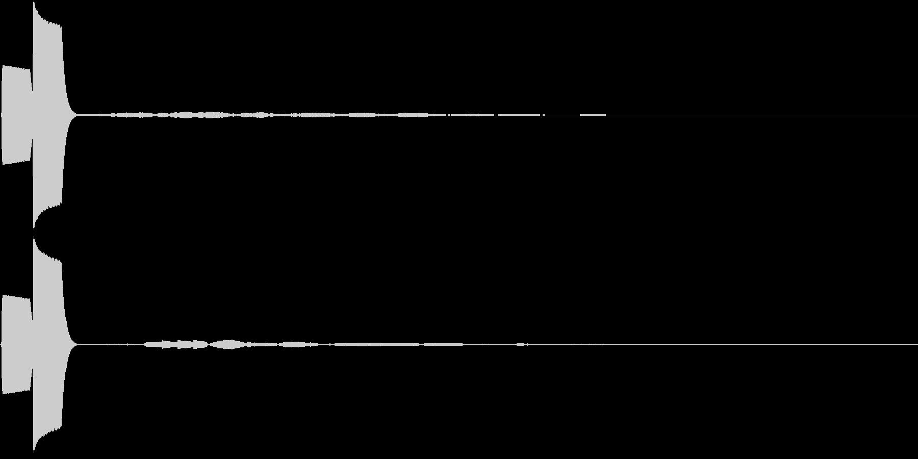 UI クールな電子音 ピッの未再生の波形