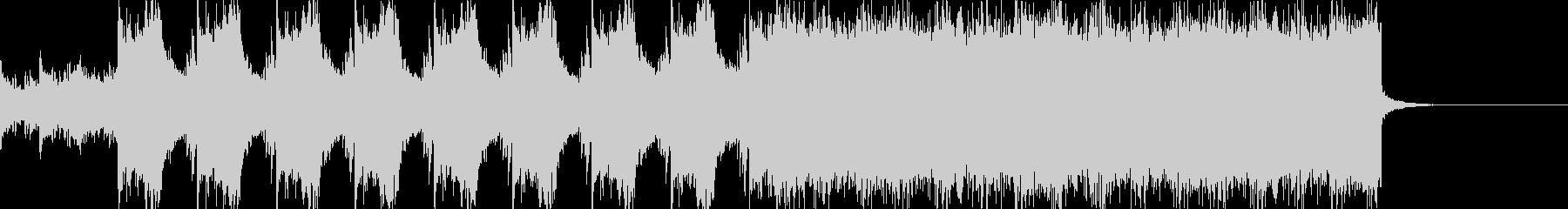 ゲームのバトルシーンBGMの未再生の波形