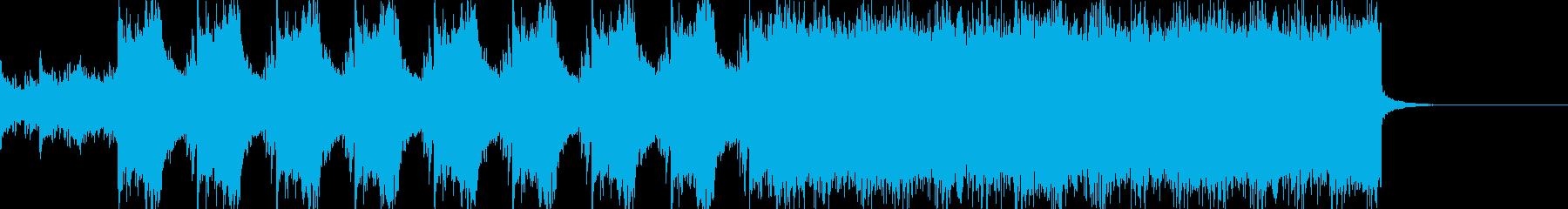 ゲームのバトルシーンBGMの再生済みの波形