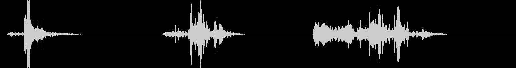 フレンチドア;ミディアムサイズクロ...の未再生の波形
