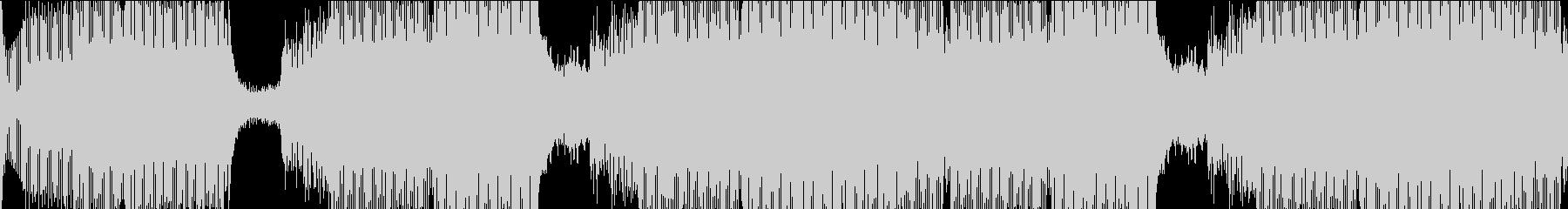 アップテンポな電子音クラブビートの未再生の波形