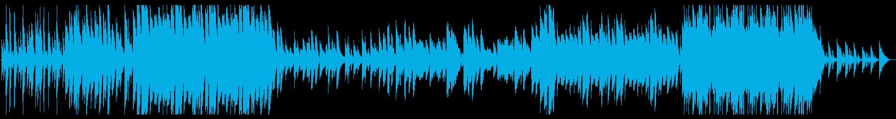 切ない雰囲気のピアノバラードの再生済みの波形