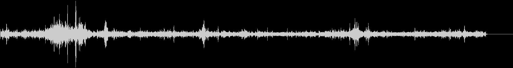エイリアン伝送;不明瞭な振動音と静...の未再生の波形