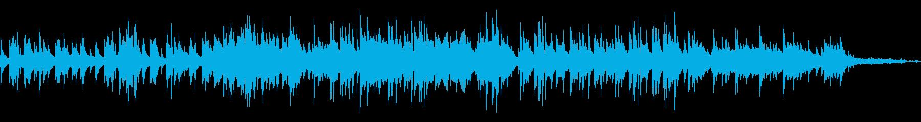 結婚式に切ない雰囲気のピアノソロバラードの再生済みの波形