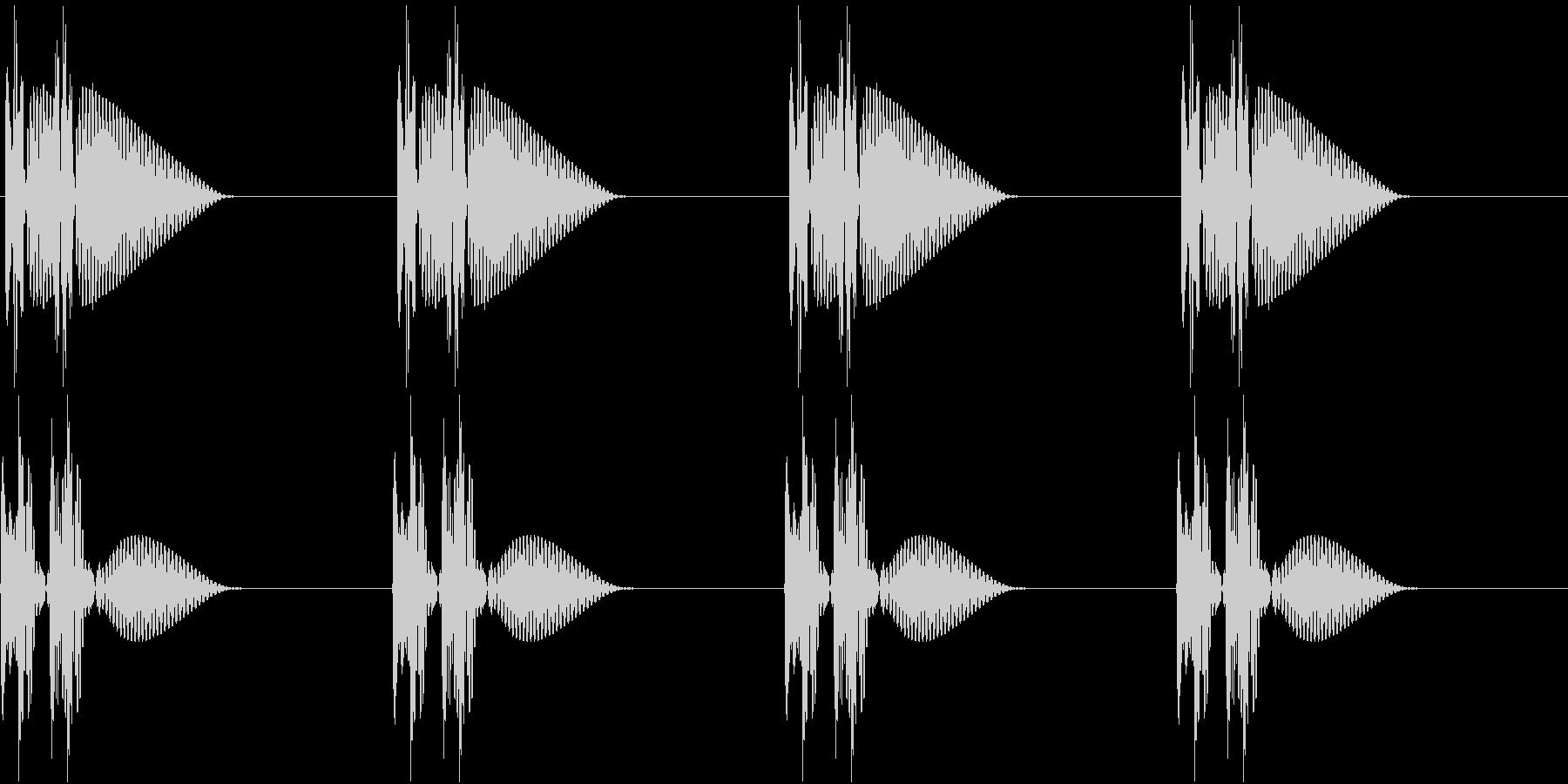 HeartBeat 心臓の音 1 ループの未再生の波形