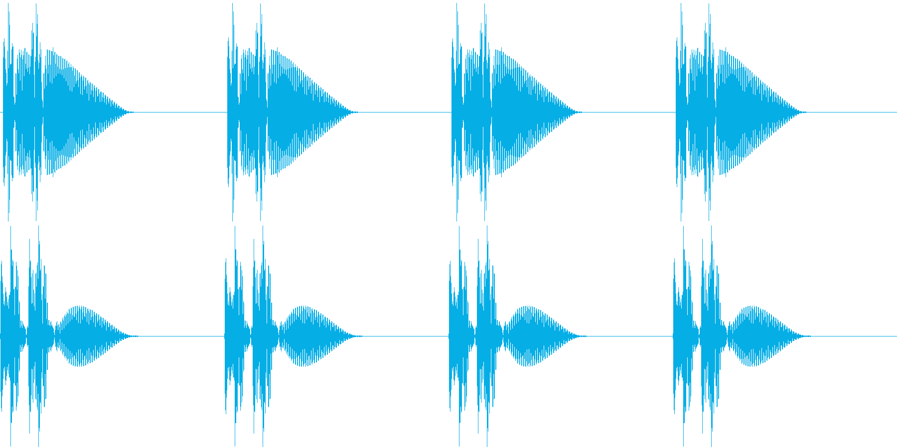 HeartBeat 心臓の音 1 ループの再生済みの波形