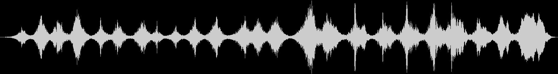スロースパイラルトーンドローンの未再生の波形