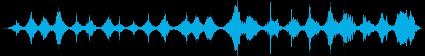 スロースパイラルトーンドローンの再生済みの波形