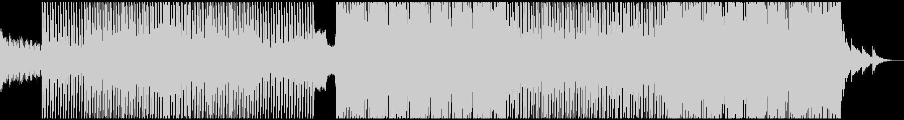 軽快なエレクトロハウスの未再生の波形