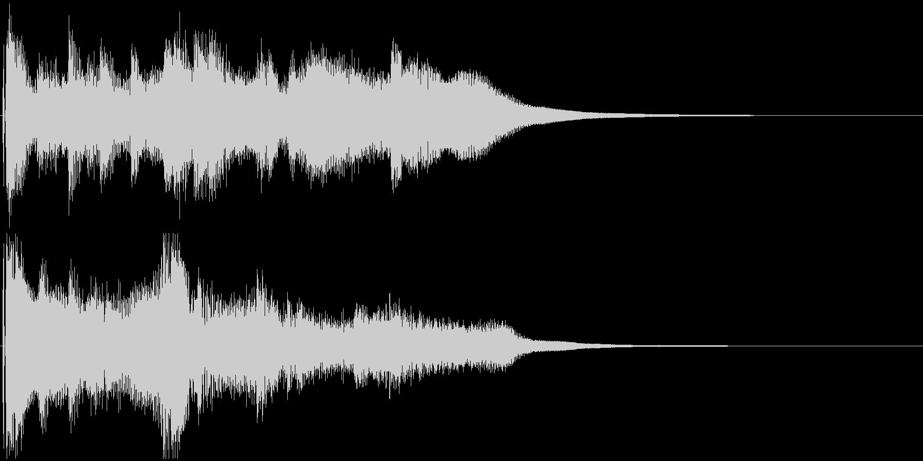 民族風ジングル。笛やハープの穏やかな曲の未再生の波形