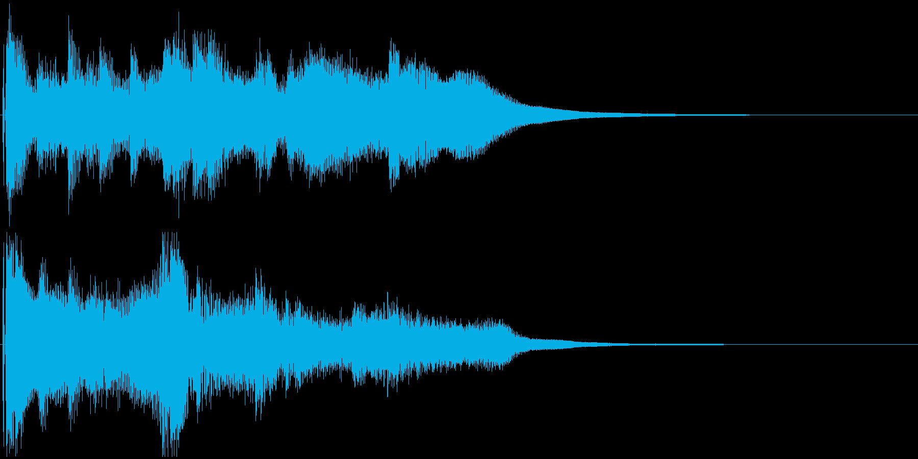 民族風ジングル。笛やハープの穏やかな曲の再生済みの波形