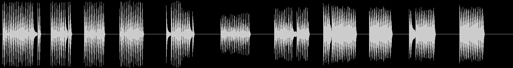 トーンオープンクローズフィルターの未再生の波形