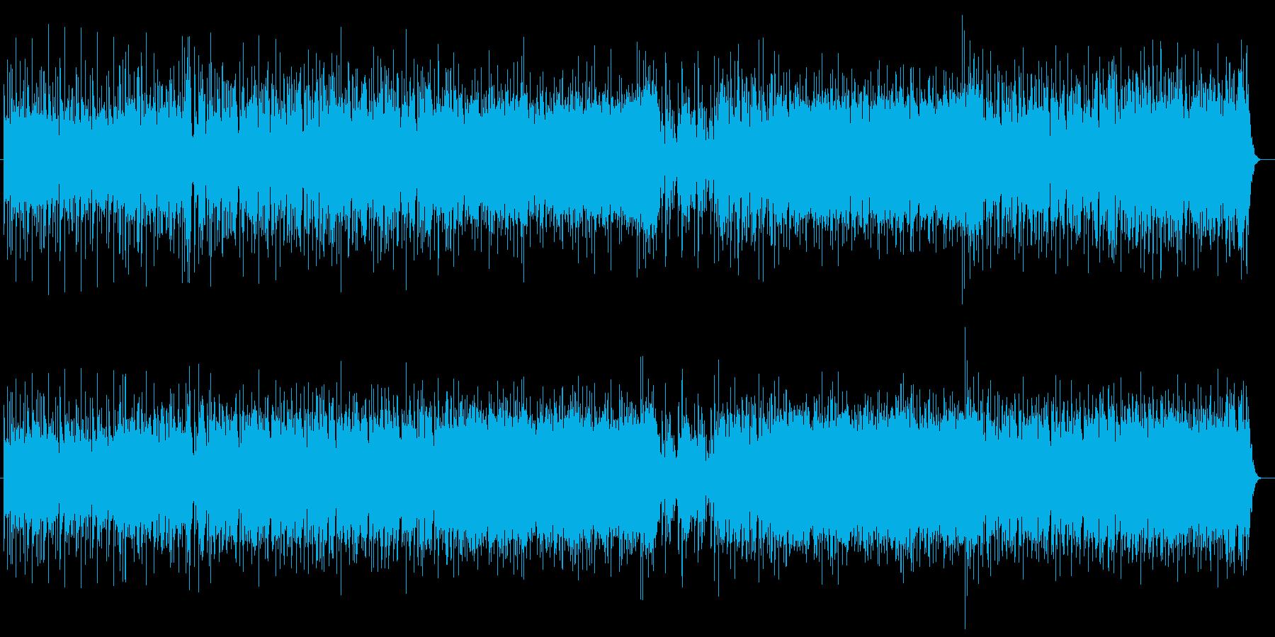 陽気な雰囲気のギターシンセの再生済みの波形