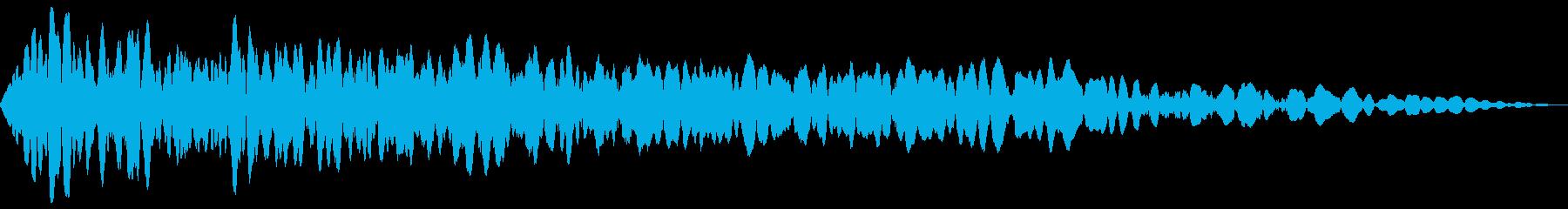 爆弾 衝撃 爆風 バーン の再生済みの波形