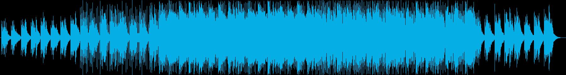 近未来的な雰囲気のエレクトロニカ風BGMの再生済みの波形