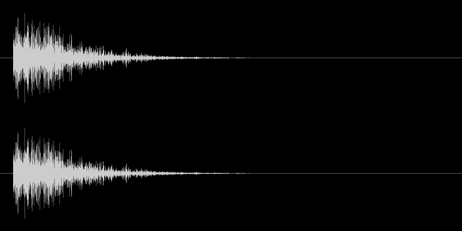 ダメージ音 15の未再生の波形