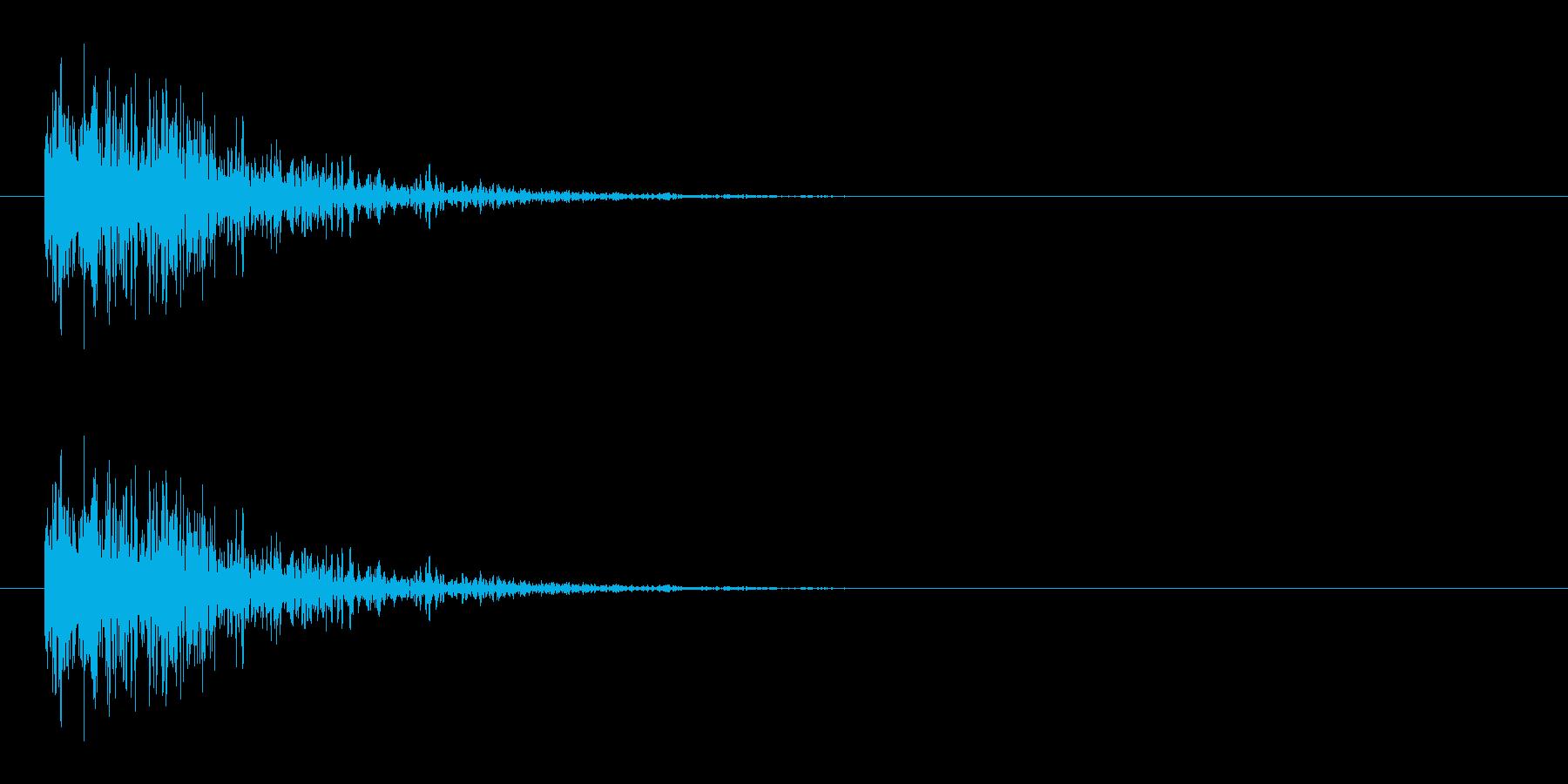 ダメージ音 15の再生済みの波形