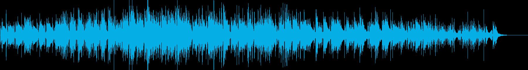 ノスタルジックなピアノインストの再生済みの波形