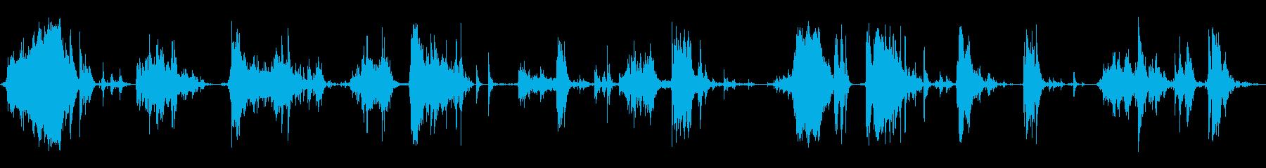 メタルデブリスクレープ5の再生済みの波形