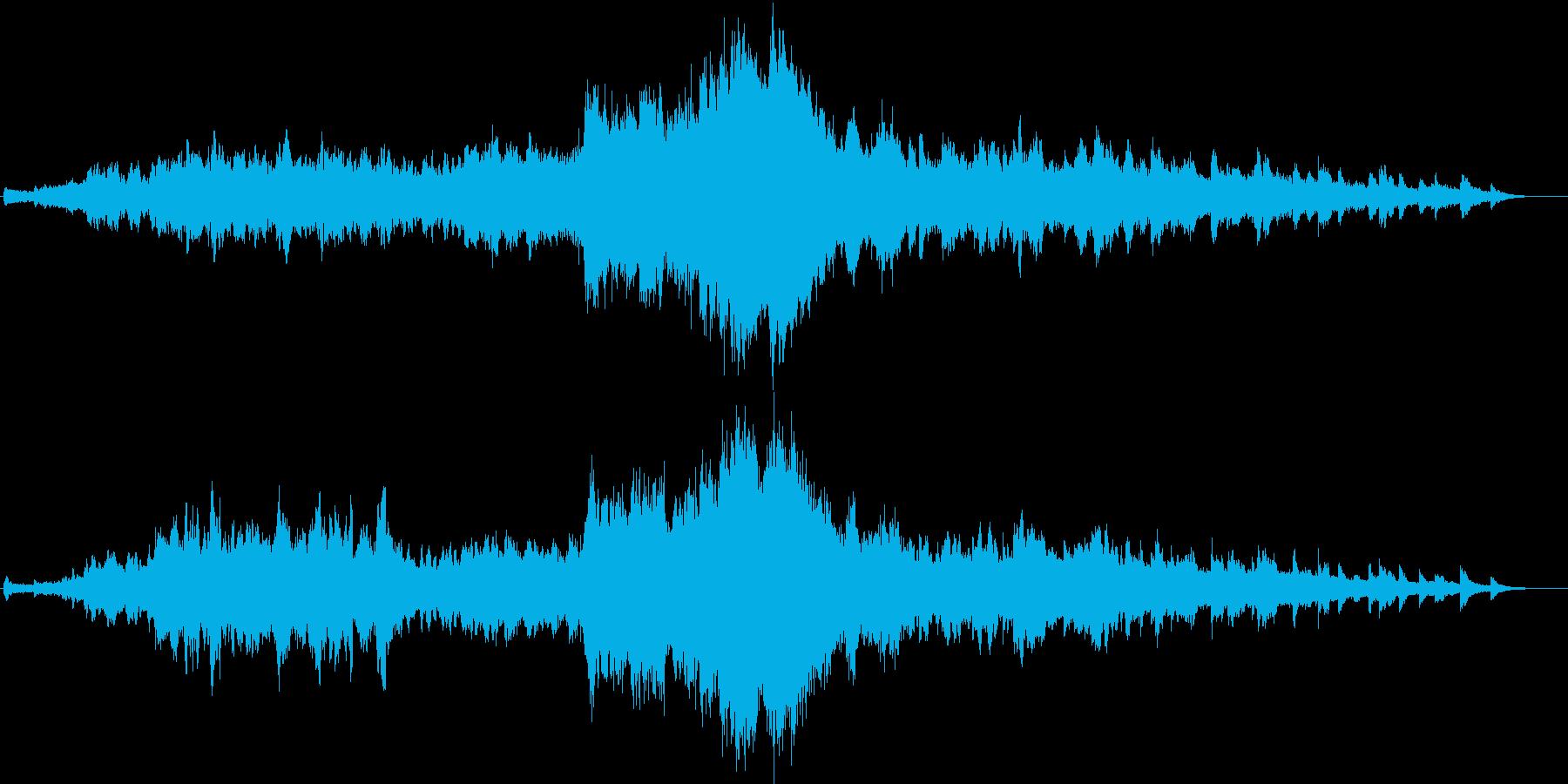 さらさら流れる清流をイメージした音楽の再生済みの波形