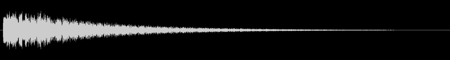 魔法を使った時の効果音的なジングルの未再生の波形