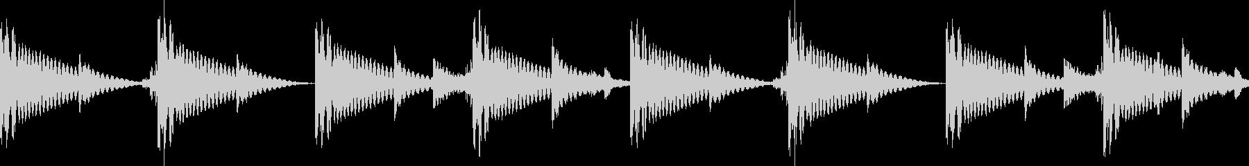 BPM128EDMリズムループの未再生の波形