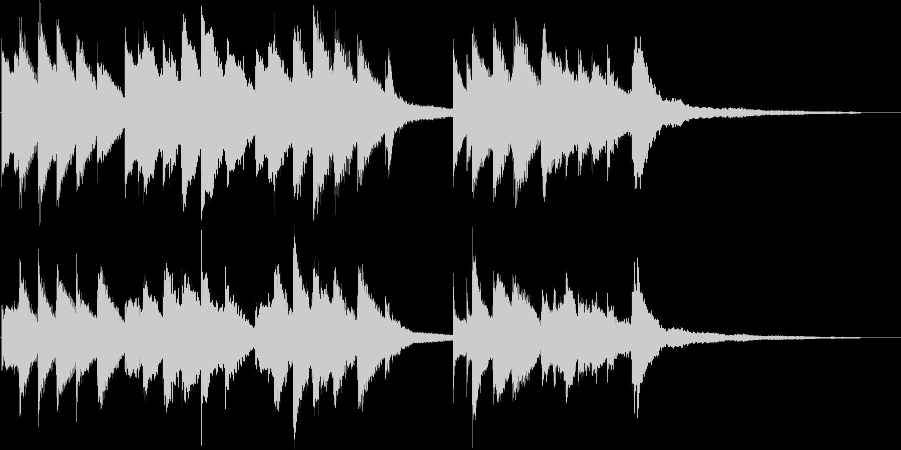 ハッピーバースデー(ジャズピアノ)の未再生の波形