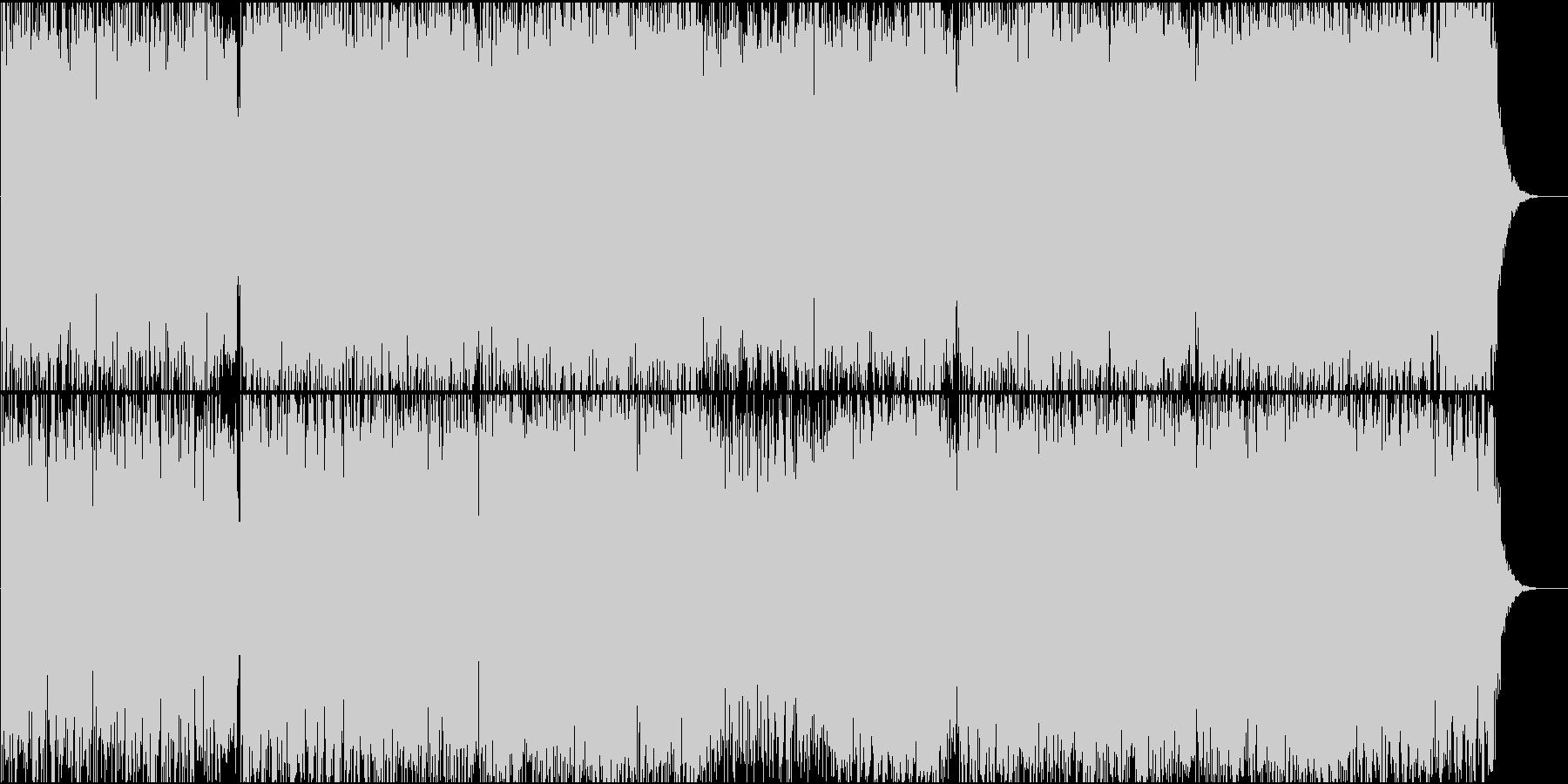 ミニマル風のアンビエント曲 ナレーションの未再生の波形