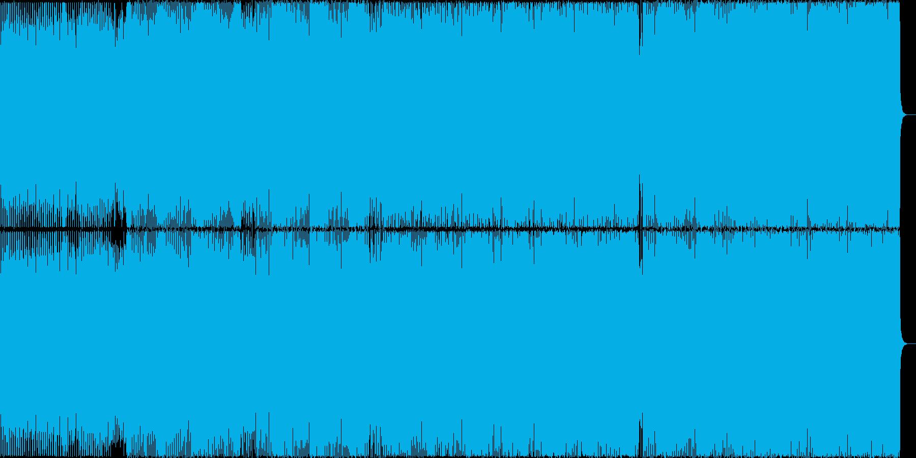 クールなEDM風ハウスをかっこいい映像にの再生済みの波形