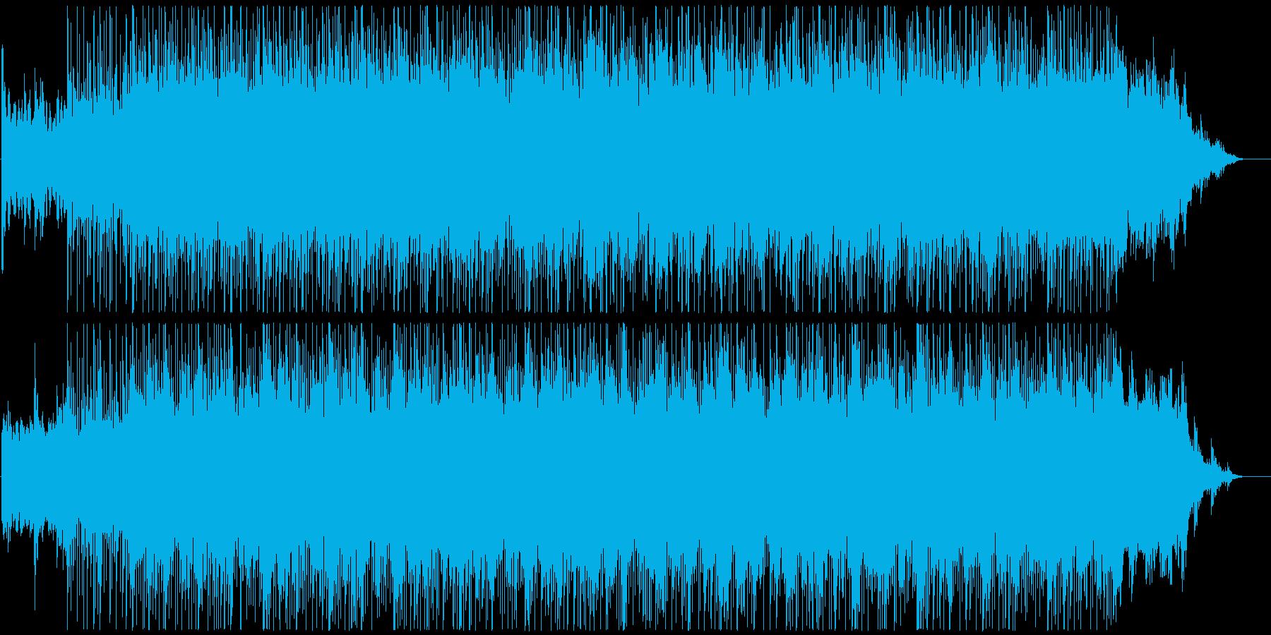 リズミカルで爽やかなBGMの再生済みの波形