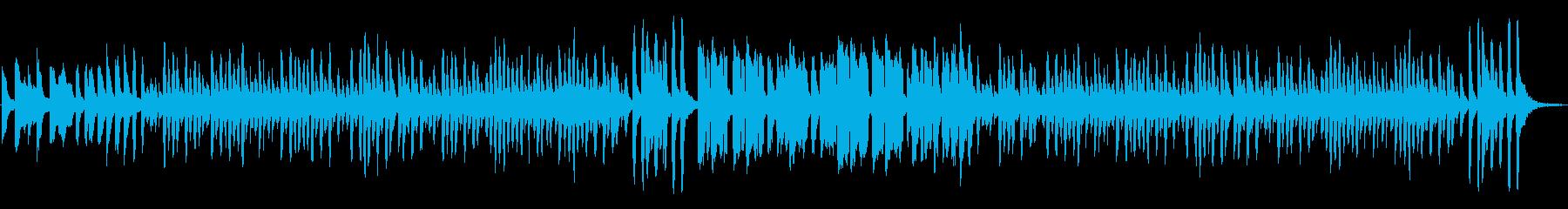 ほのぼの日常、コミカルでルンルンな曲Cの再生済みの波形