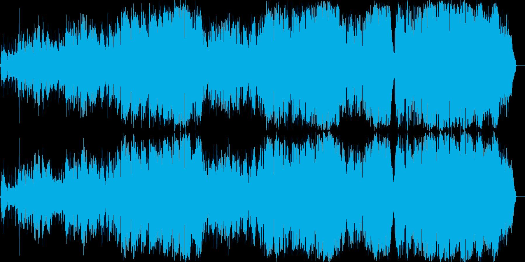 星空をテーマにした6/8スタイルの楽曲の再生済みの波形
