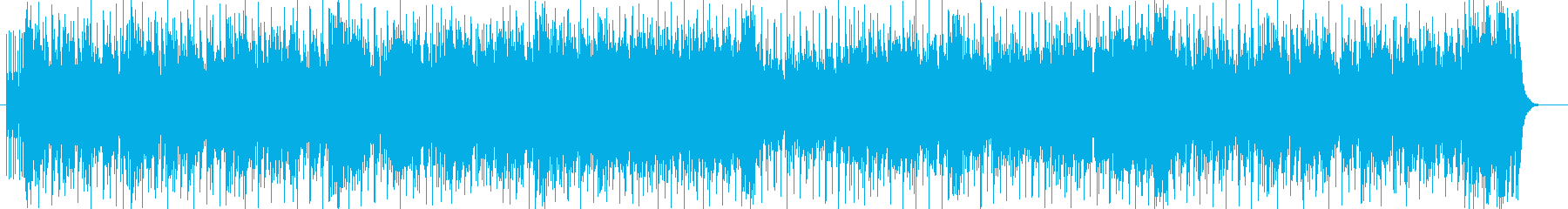 ドラムが爽快なアップテンポのポップスの再生済みの波形
