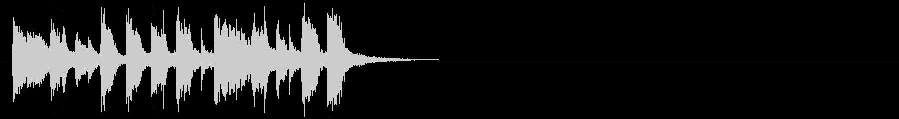 ジングル(クイズ回答中)の未再生の波形